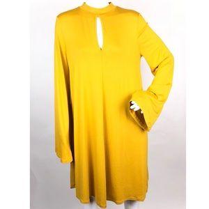 ASOS Keyhole Bell Sleeve Fall Tunic Shift Dress